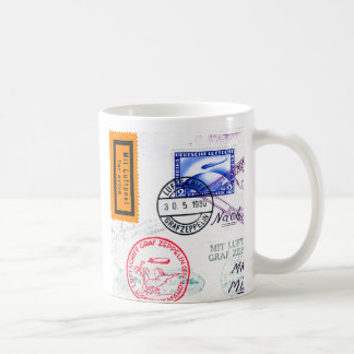 Zeppelin Adventure Travel Time Coffee Mugs