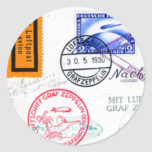 Zeppelin Adventure Travel Time Sticker