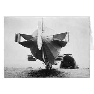 Zeppelin Airship, 1908 Card