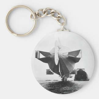 Zeppelin Airship, 1908 Key Ring