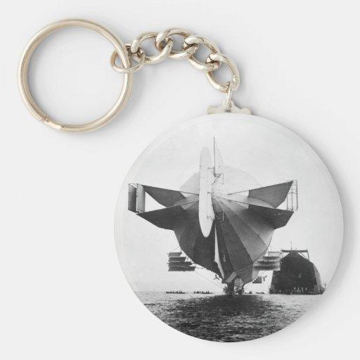 Zeppelin Airship, 1908 Keychain