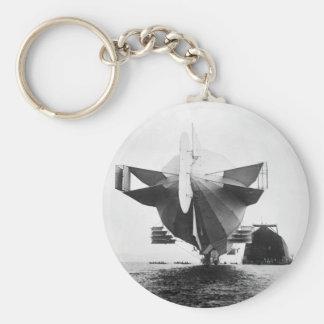 Zeppelin Airship 1908 Keychain