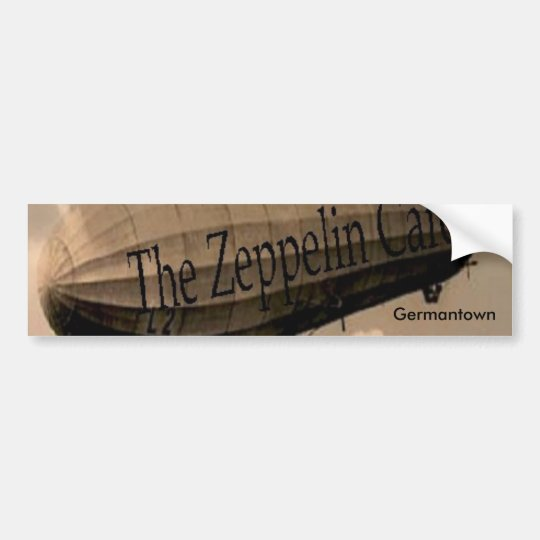 Zeppelin Cafe Bumper Sticker