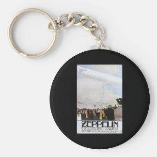 Zeppelin in Deutsch Bohmen Schauflug Basic Round Button Key Ring