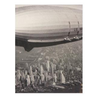 Zeppelin over New York City Postcard