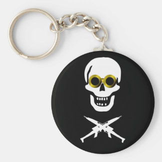 Zeppelin Pirate Basic Round Button Key Ring