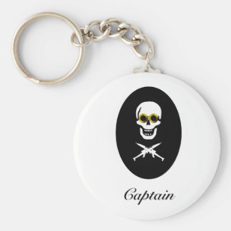Zeppelin Pirate Captain Basic Round Button Key Ring