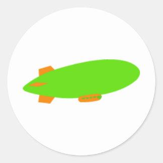 Zeppelin Round Sticker