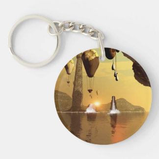Zeppelin Single-Sided Round Acrylic Key Ring
