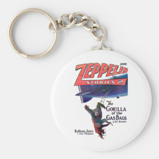Zeppelin Stories Basic Round Button Key Ring
