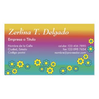 Zerlina de Flores Arco Iris Pack Of Standard Business Cards