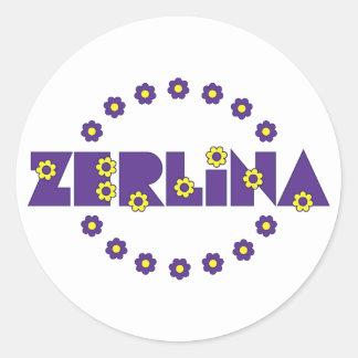 Zerlina de Flores Purpura Round Sticker