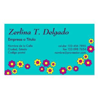 Zerlina de Flores Rosa Pack Of Standard Business Cards
