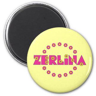 Zerlina Flores Pink 6 Cm Round Magnet