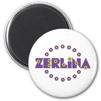 Zerlina Flores Purple 6 Cm Round Magnet