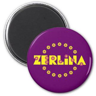 Zerlina Flores Yellow Refrigerator Magnet