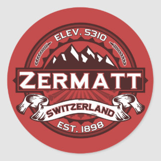 Zermatt Color Logo Round Sticker