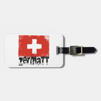 Zermatt Grunge Flag Luggage Tag