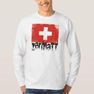 Zermatt Grunge Flag T-Shirt