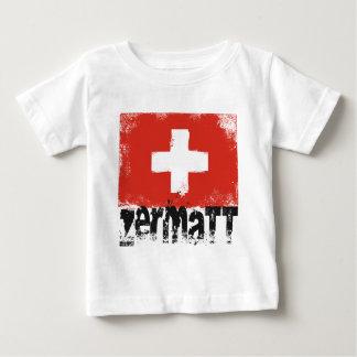 Zermatt Grunge Flag Tee Shirt