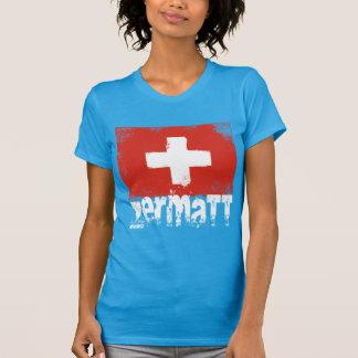Zermatt Grunge Flag Tshirts