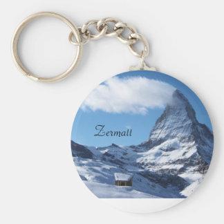 Zermatt keyring basic round button key ring