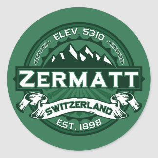 Zermatt Logo Classic Round Sticker