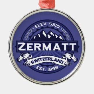 Zermatt Logo Midnight Christmas Ornament