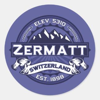 Zermatt Logo Midnight Classic Round Sticker