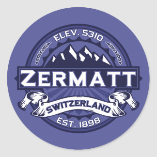 Zermatt Logo Midnight Round Sticker