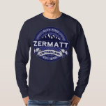 Zermatt Logo Midnight Tee Shirts