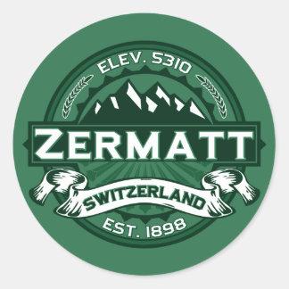 Zermatt Logo Round Stickers