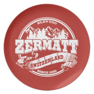 Zermatt Old Circle Red Plates