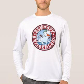 Zermatt Snowman Circle Tee Shirt