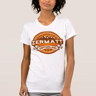 Zermatt Switzerland Tangerine T-shirts