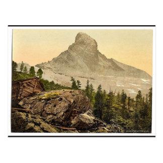 Zermatt, Upper Staffelalp, with Matterhorn after s Postcard
