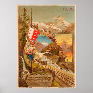 Zermatt Vintage Travel Poster