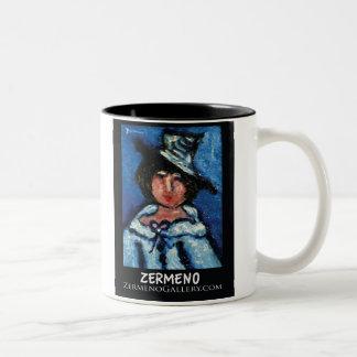 Zermeno's Little Parissiene in Hat Two-Tone Coffee Mug