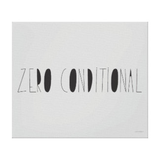 Zero Conditional Canvas Print