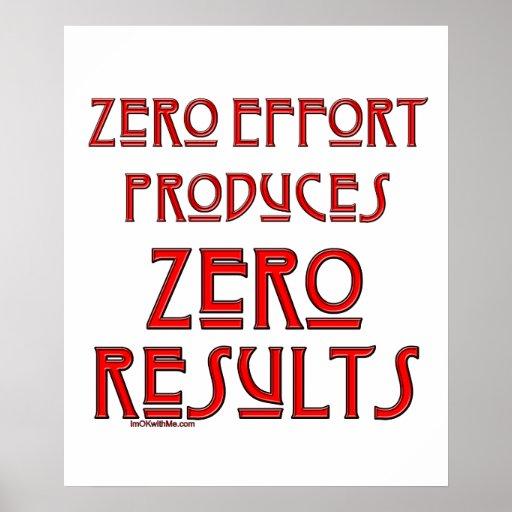 Zero Effort... Poster
