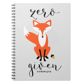 Zero Fox Given Funny Pun Personalized Notebook