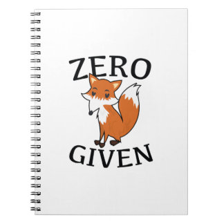 Zero Fox Given Notebooks