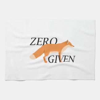 Zero Fox Given Tea Towel