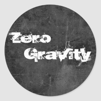 Zero, Gravity 2 Classic Round Sticker