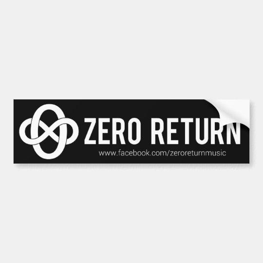 Zero Return Bumper Sticker