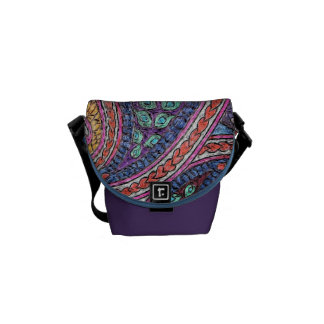 Zero small messenger bag peacock paisley
