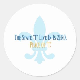 Zero State Round Sticker
