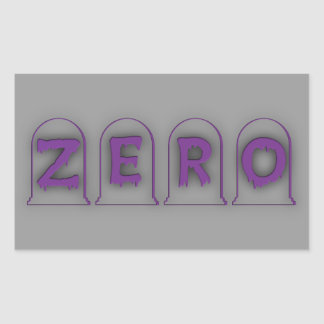 Zero Rectangular Sticker