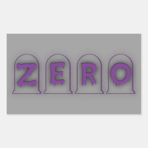 Zero Rectangle Stickers