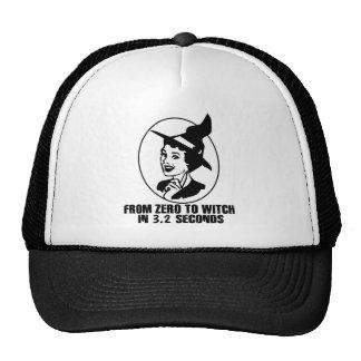 Zero to Witch 50 s Style B W Mesh Hat